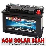 85Ah AGM GEL Versorgungsbatterie Solarbatterie...