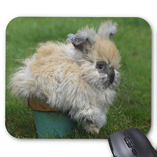 Lovely Kaninchen Mousepad Serie Angora Bunny auf Blumentopf Mauspad Bunny Kaninchen Maus Pad Rechteck Mousepads (Rechteck-serie)