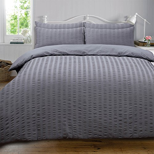 Highams Seersucker Duvet Cover w...