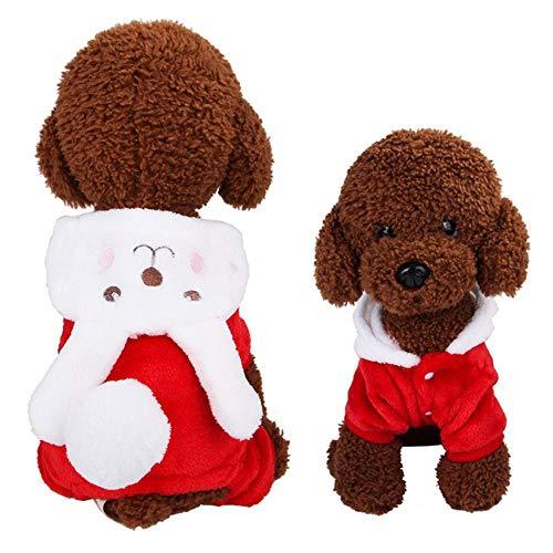 GOUSHENG-Costumes Haustiere Kleidung Kleider 1 Stück Haustier Hund Kleidung Winter Warme Fleece Chihuahua Mantel Jacken Puppy Cat Hoodies Kostüme Mops Französisch Bulldog Kleidung Xs-XXL, 11, XXL (Hunde Elf Kostüm Xxl)