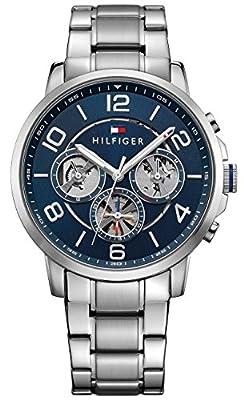 Reloj para hombre Tommy Hilfiger 1791293, mecanismo de cuarzo, diseño con varias esferas, correa de acero inoxidable.