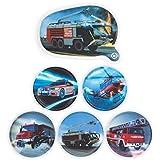 Fond of Bags Ergobag 2er Klettie-Set Feuerwehr (5tlg.) + Feuerwehr (LED-Klettie)