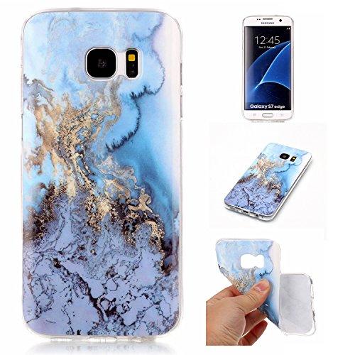 Coque Huawei P8 Lite (5,0 Pouces), Meet de Téléphone Case (Design marbre) Slim TPU Silicone Case Cover Housse Etui pour Huawei P8 Lite (5,0 Pouces) - blue sea blue sea