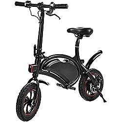 cooshional Bicicleta Eléctrica Plegable Paseo 350W 36V Alcance 20km E-bike Control Bluetooth