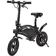 cooshional Bicicleta Eléctrica Plegable Paseo 350W 36V Alcance 20km Control Bluetooth