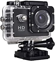 Full HD 12MP Waterproof Sports Action DVR with 15 accessories, Black