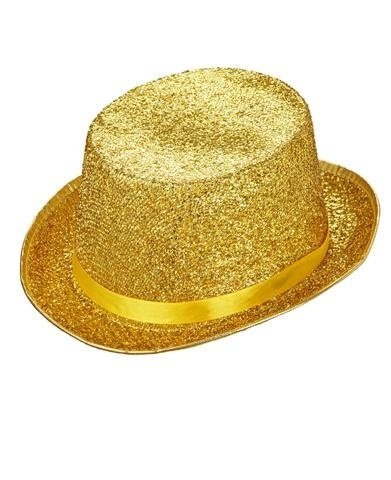 LUREX TOP HAT - gold/silver (Top Silver Hats)