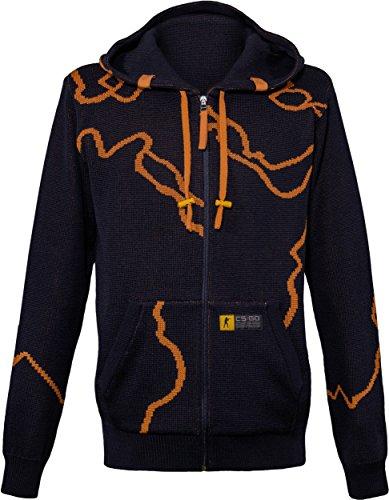 Musterbrand-Counter-Strike-Zip-Hoodie-Herren-Strick-Jacke-Sweatshirt-Jacke-Blau