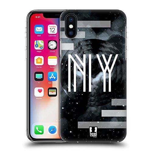 Head Case Designs Londra Città Della Moda Cover Retro Rigida per Apple iPhone X New York