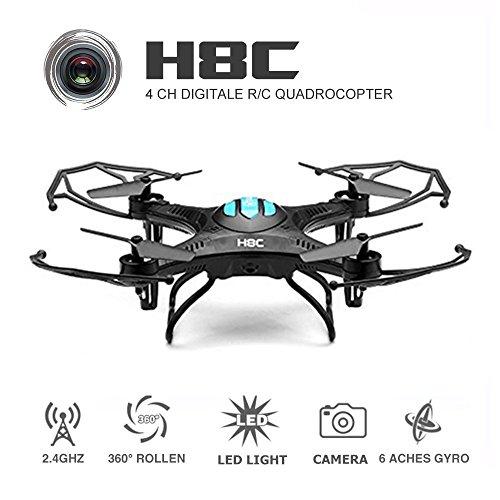 EACHINE H8C Quadcopter Drone with 2MP HD Camera Droni Radiocomandati...