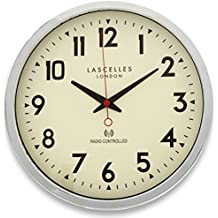 Roger Lascelles - Reloj de pared radiocontrolado, color cromado