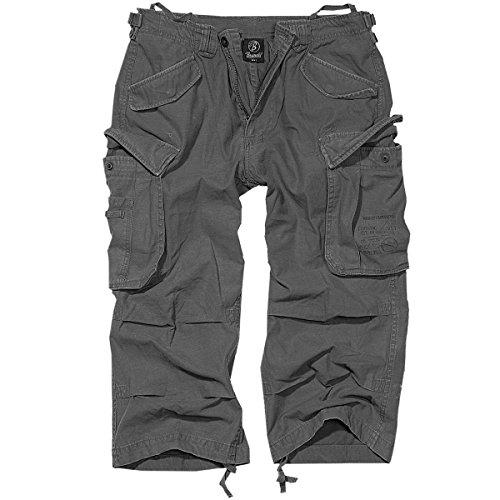 Brandit Uomo Industry Vintage 3/4 Pantaloncini Antracite Taglia M