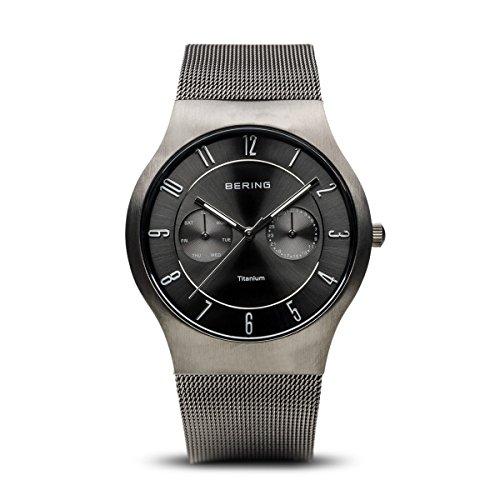 BERING Herren-Armbanduhr Analog Quarz Edelstahl 11939-077