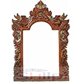 Shilpi Wooden Beautiful Rajasthani Traditional Mirror Frame / Wooden Mirror Frame For Wall & Living Room Decor