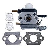 HIPA Carburateur avec Pompe d'Amorçage Joint pour Zama C1U-K54A C1U-K17 C1U-K46 Mantis Echo SV-4B SV-4/B SV4B 12520013121 12520013122 12520013123