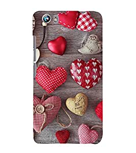 Hearts Hard Polycarbonate Designer Back Case Cover for Micromax Canvas Fire 4 A107