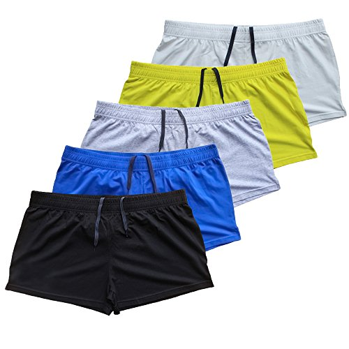 Musclealive Sporthose Herren Kurz Fitnessstudio Bodybuilding Turnhose Baumwolle Laufshorts