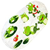 WARRAH Qualitäts-Baby-Anti-Rutsch-Antibakterielle Badmatte, schimmelbeständig Anti-Rutsch-Matten für Kinder, Antibakterielle Anti-Rutsch-Resistant Badezimmer-Matte für Kinder, Latex-Free 39cm/15in*70cm/27in