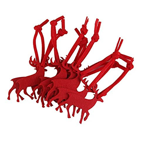 Weihnachtsbaumschmuck Haenger Ornament Festival Handwerk Dekor Antilope Rot