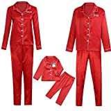 TianWlio Baby Weihnachten Pyjamas Bekleidung Baby Weihnachten Outfit Baby Mädchen 2PCS Weihnachten Kinder Karikatur Rotwild Druck Top + Hosen Familie Kleidung Pyjamas