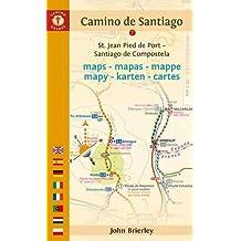 Mapa-Guía Camino de Santiago (St Jean Pied de Port-Finisterre) Inglés, español, francés, alemán, italiano, portugués, holandés, polaco. Camino Guides. [Idioma Inglés]
