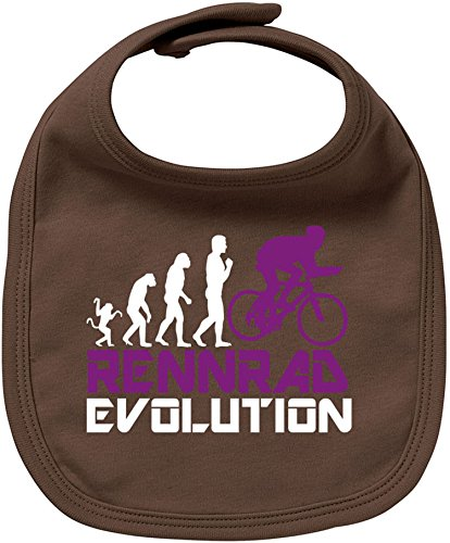 EZYshirt Rennrad Evolution Baby Lätzchen Halstuch