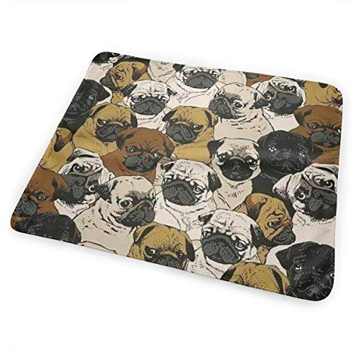 Kotdeqay Imagen De Pug, Dog, and Wallpaper Baby Crib Pee Mat Washable Urine Bed Pads Absorbent Reusable Changing Pad Mattress -