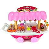Magnifico Sweet Shop Trolley Kitchen Cart Luxury Battery Operated With Music & LED Lights Ice Cream Trolley Shop Set For Kids Set