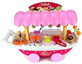 #9: MAGNIFICO Sweet Shop Trolley Kitchen Cart Luxury Battery Operated with Music & LED Lights Ice Cream Trolley Shop Set for Kids Set