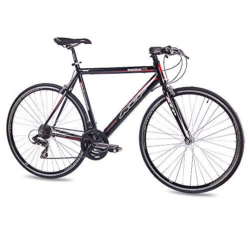'28kcp per bici da corsa fitness bike marathon alu 21cambio shimano 56cm nero–71,1cm (28pollici)