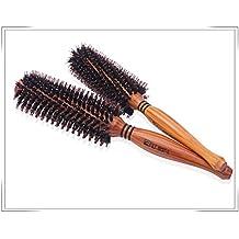 vinallo madera Cerdas de madera cepillo de cabello redondo cerdas naturales de jabalí