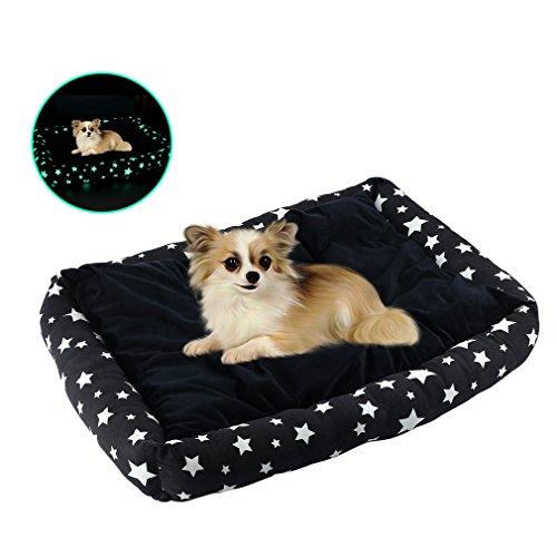 Letto per cani, ultra-morbido rettangolare lavabile nottilucenti cuccia per cani di media e piccola taglia, cuccioli o gatti