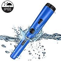 PiAEK Pin Pointer Metalldetektor für Erwachsene/Kinder, voll wasserdichter Pro Metalldetektor mit hoher Empfindlichkeit Treasure Hunting Blue