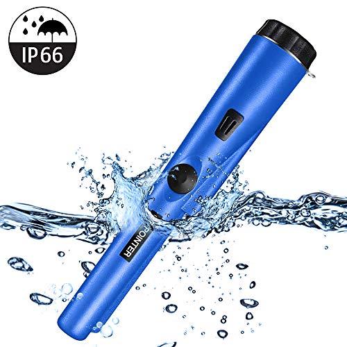 PiAEK Pin Pointer Metalldetektor für Erwachsene/Kinder, voll wasserdichter Pro Metalldetektor mit hoher Empfindlichkeit und Holster Treasure Hunting Blue