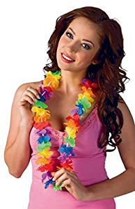bigiemme Collar hawaiana Arco iris, Multicolor, 5it29065