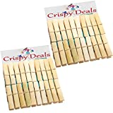 Wooden Clips Bamboo Cloth Pegs Set of 40...