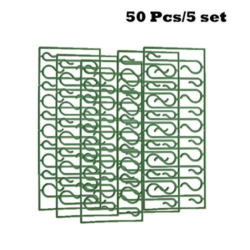 Happy Event 20/50/100pcs Weihnachtsverzierungen   S Form Haken   Weihnachtsbaum Dekoration Multi (50 Stück)