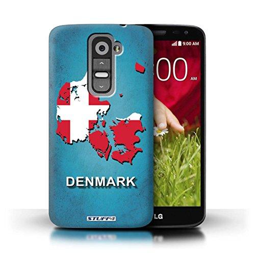 Kobalt® Imprimé Etui / Coque pour LG G2 Mini/D620 / Suède/Suédois conception / Série Drapeau Pays Danemark/Danoise
