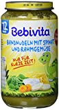 Bebivita Menüs ab 12. Monat, Limitiert Dino - Bandnudeln mit Spinat und Rahmgemüse, 6er Pack (6 x 250g)