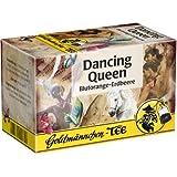 Goldmännchen Tee Dancing Queen, Blutorange-Erdbeere, Aromatisierter Früchtetee, 20 einzeln versiegelte Teebeutel