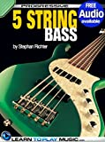 5-String Bass Guitar Lessons for Beginners: Teach Yourself How to Play Bass (Free Audio Available) (Progressive) (English Edition)