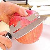 shishangdaka Multifunzionale Pelapatate in Acciaio Inossidabile Frutta E Pelatrice di Taglio Coltello Apertura Coltello Piallatrice Multiuso per Andare al Coltello 2 Confezioni