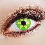 aricona Farblinsen grüne Kontaktlinsen farbig zum Hippie Kostüm Flower Power