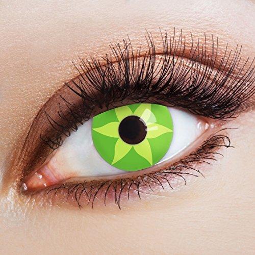 aricona Farblinsen grüne Kontaktlinsen farbig zum Hippie Kostüm Flower (Kostüme Siebzig)