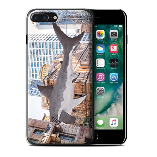 Stuff4 Hülle / Case für Apple iPhone 7 Plus / König Koala Muster / Unten Unter Kollektion Hai Attacke