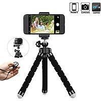 Mini Trépied pour Smartphone, Caméra, iphone inclut le Support de Téléphone mobile Universel et la Télécommande Bluetooth pour Vidéo et Photo