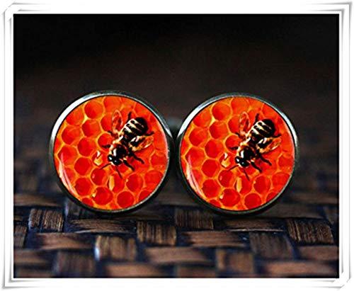 Honey Bee Boutons de manchette Manchette, bijoux d'insectes, nature, Boyfriend Cadeau