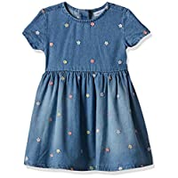 OVS Baby Girls 191DRS195-227 Dress, Turquoise (Starlight Blue 2533), Size: 24-30