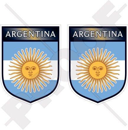 Argentinien Argentinische Shield 75mm (7,6cm) Bumper Sticker, Aufkleber Vinyl X2