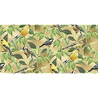 Fat Quarter Wild Wings frutta della vite, canarini Chickadees & tessuto di supporto per Quilting e